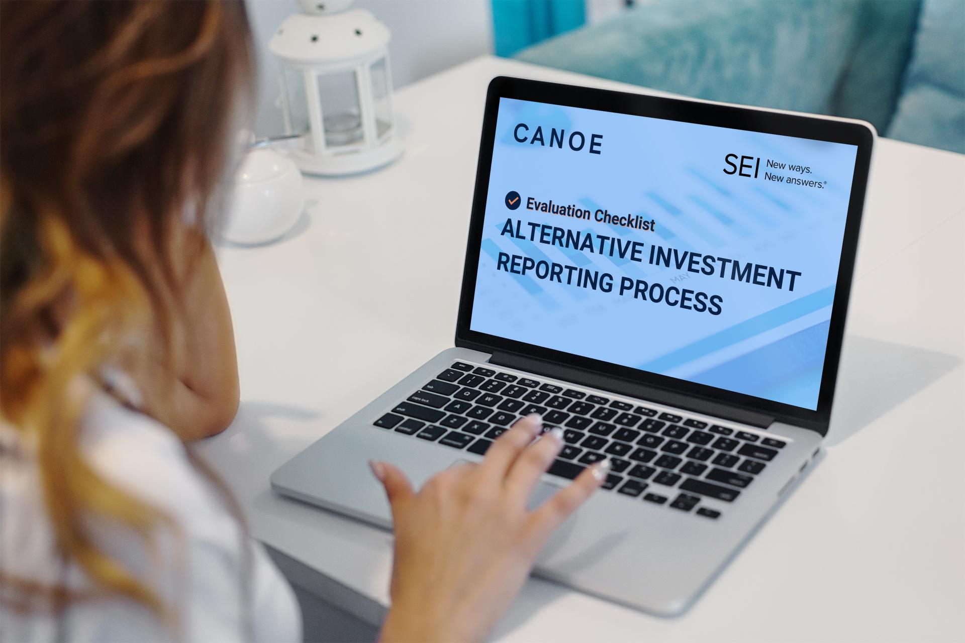 SEI and Canoe Alternative Investment Reporting Process Checklist Image